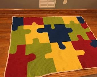 Autism Awareness Blanket - 20% of Proceeds to Autism Speaks