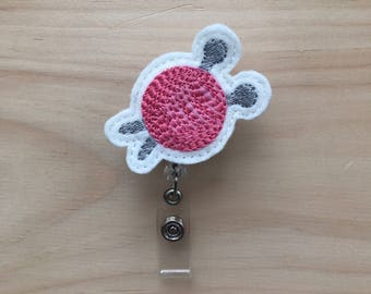 Knitting needles badge reel, badge reel, ID holder for makers, ID holder for crafters, Knit lovers, ID badge reel