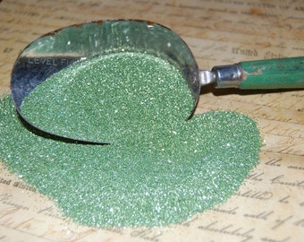 Spring Green Vintage German Glass Glitter