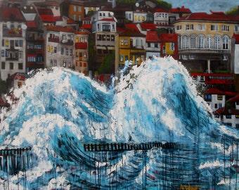 The storm- LARGE ARTWORK original painting