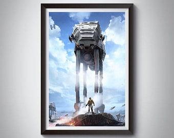 AT-AT Inspired Art Poster Print, All Terrain Armored Transport Star Wars Poster