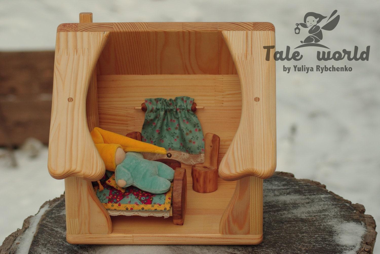 Wooden Dollhouse Waldorf Dollhouse Dollhouse Furniture # Muebles Waldorf