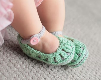 Crochet Baby Booties Pattern - Molly Summer Slippers