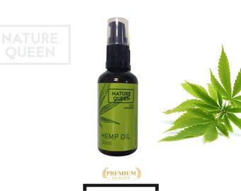 100% Pure Natural Organic HEMP OIL Cold Pressed Unrefined