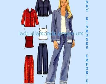 Simplicity 5837 Womens Shirt Pants Camisole Top 10 12 14 16 18 20 22 Easy Boho Hippie Era Sports Wear Petite to Plus Size Pattern Uncut FF