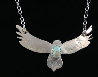 Turquoise Eagle Pendant