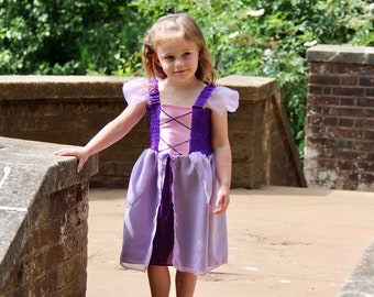 Rapunzel Dress, Girl's Rapunzel Dress, Tangled Dress, Purple Princess Dress, Girl's Princess Dress, Toddler Rapunzel Dress, Princess Dress