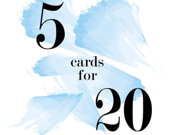 Mix & Match Cards - 5 for 20