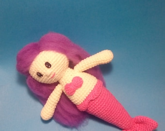 Crochet mermaid, Soft doll, Amigurumi mermaid