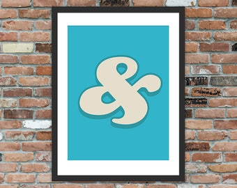 Ampersand - Typography Print, Gallery Wall