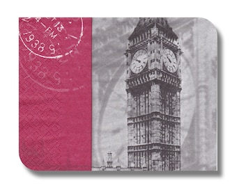 London paper napkin for decoupage and other paper crafts x 1.  London. No 1166
