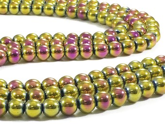 8mm Hematite Beads, Round Hematite Beads, Hematite Jewelry