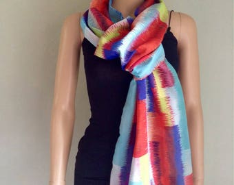 Express delivery cotton scarf printed graphic blackness multocolore slip