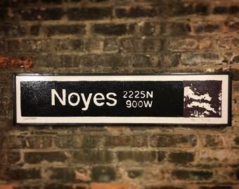 Noyes Train Station Purple Line Evaston IL Chicago Transit System Art