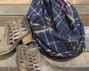 Flannel Blanket Scarf/ Plaid Scarf/ Flannel Scarf/ Blanket Scarf/ Fall Scarf