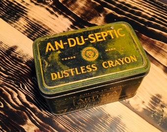 An-Du-Septic Dustless Crayon box