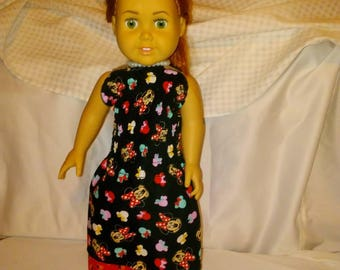 "18"" doll sized Minnie Mouse dress"
