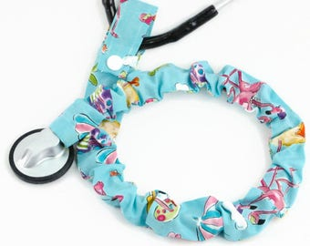 Stethoscope Cover, Medical Student, Nurse, Doctor, Medical Instruments, Stethoscope Accessories, Poolside Flamingos, Fun in Sun Flamingos