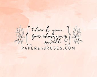 Thank You Stamp, Thank You for shopping small Script Stamp, Packaging Stamp, Thank You Business Stamp, Shop Stamp - CB751