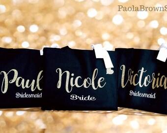 Custom Tote. Bridesmaid Tote. Bridesmaid Bag. Personalized Tote. Personalized Name Tote. Wedding Day Tote. Bridal Tote. Customized bag