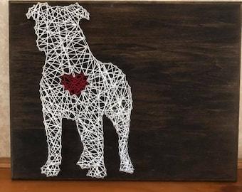 Custom Pit Bull String Art   Pittie String Art   Pibble String Art   Mother's Day Gift