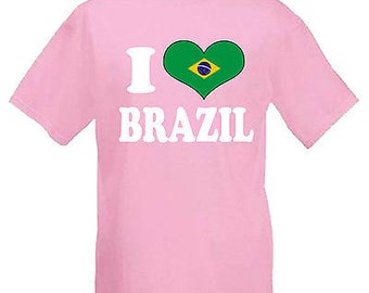 I love heart brazil children's kids t shirt