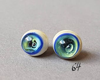 Fish eyes, glass eyes, 9 mm