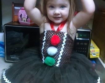 Gingerbread Tutu - Gingerbread Dress - Gingerbread Costume - Gingerbread Tutu Dress - Tutu Dress Babies and Toddlers - Christmas Tutu Dress