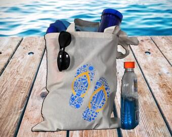 Fun in the Sun Flip-Flop Summer Tote Bag