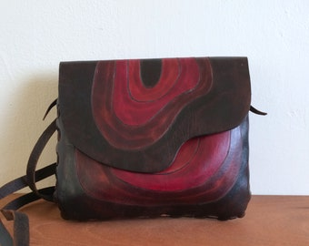 Leather Purse – Abstract Design – Argentina