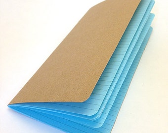 LINED Traveler's Notebook Insert  - Choice of 22 colors and 8 sizes