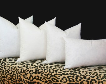 Down alternative pillow inserts 100% cotton cover 16x16 18x18 20x20 22x22 24x24 26x26 28x28 20x20 Euro insert Lumbar 12x16 12x18 14x26