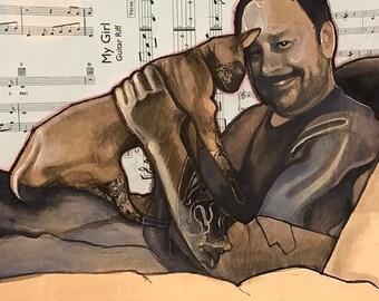CUSTOM Art Portrait (Two Faces)