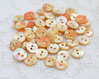 12 pcs, Mother of Pearl Shell Buttons 9mm, Eco Friendly Natural Buttons