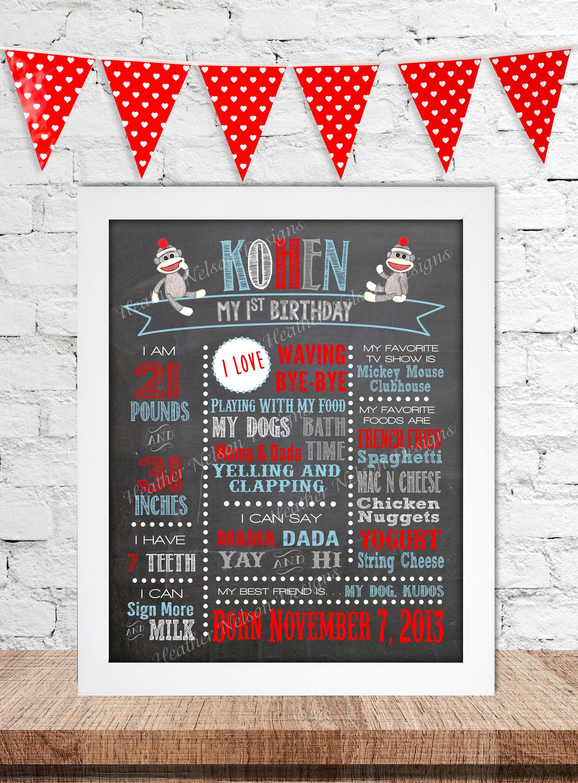 Nice Sock Monkey Invitations 1st Birthday Image Collection ...