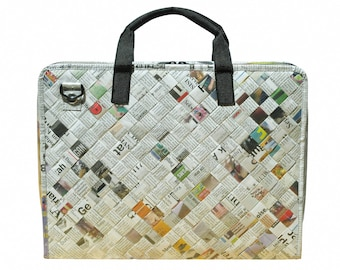 upcycled laptop case - womens laptop bag - laptop briefcase - padded laptop bag - recycled laptop bag - repurposed gifts for her - eco bag