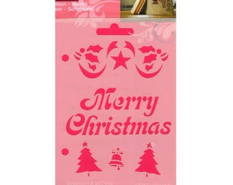 Merry Christmas A6 size Christmas stencil