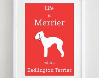 Bedlington Terrier Print - Terrier Print - Dog Art - Dog Picture - Dog Print - Dog Breed