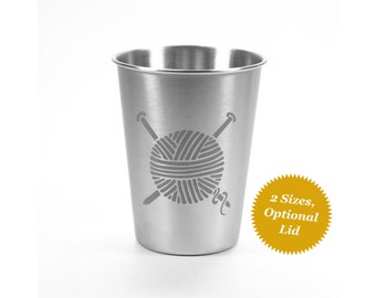 Knitting Yarn Stainless Steel Cup