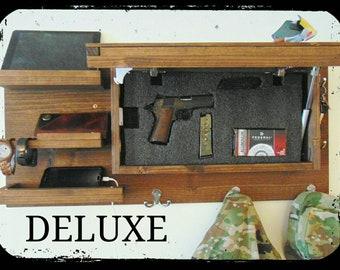 Last day sale Choose color Deluxe hidden gun storage compartment coat key rack organizer concealment hanger shelf phone charging station