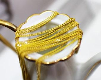 The shiny vivid yellow chain(145SF-1.5mm-8)