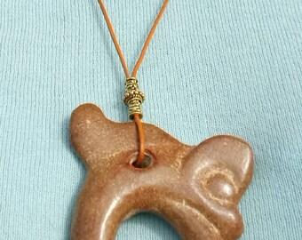 Original jade artifact of a dragon pig. Neolithic Hongshan culture