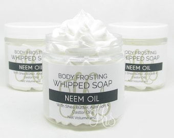 NEEM OIL Whipped Soap - Body Frosting, Body Wash, Shave Cream, Cream Soap, Soap, Body Soap, Gift For Teenager