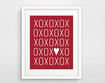 XOXO Valentine's Day Printable