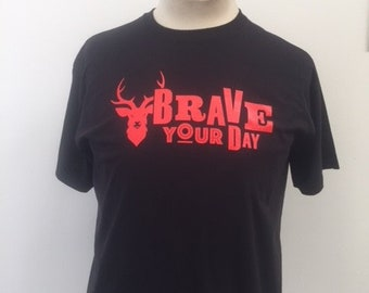 Slogan T-shirt - Brave Your Day