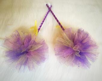Rapunzel wand-tangled wand/costume wands- princess wands/ purple and yellow wand