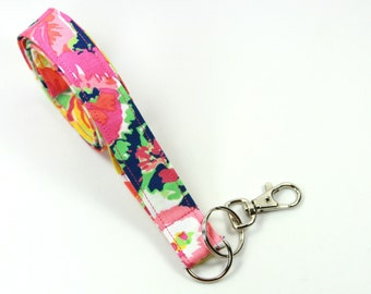 COLORFUL Fabric lanyard, Colorful Badge Holder, Flower Badge Holder, Colorful Lanyard