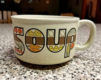 Vintage JAPAN Soup Mug