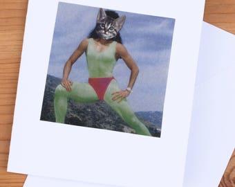 Card - Kitten 80's Workout