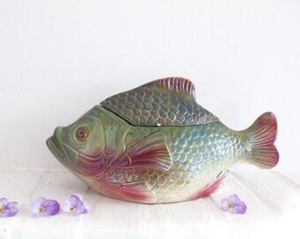 Antique French Ceramic Fish